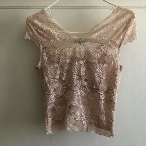 Charlotte Russe Tops - Floral Laced Top